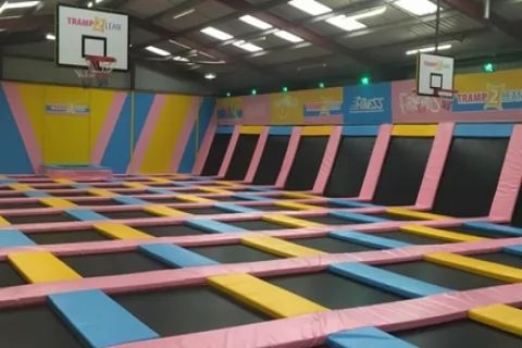 One-Hour Bouncing Session for Adult with Toddler or for Up to Four at Tramp 2 Lean...