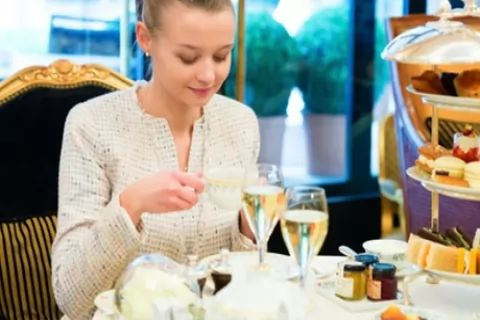 Decadent Afternoon Tea with Optional Prosecco for Two or Four at Best Western Royal Beach...