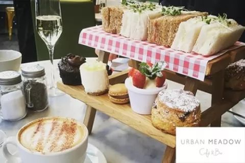 Afternoon Tea with Bottle of Prosecco for Two at Urban Meadow Cafe - DoubleTree By Hilton...