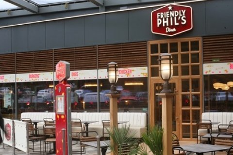 Choice of Burger or Hot Dog with Side and Soft Drink for Up to Four at Friendly Phil's,...