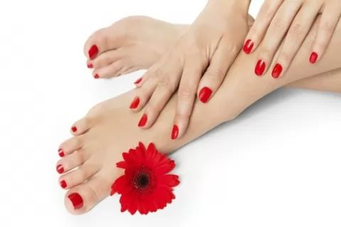 Shellac Manicure, Pedicure or Both at Hands Tanned