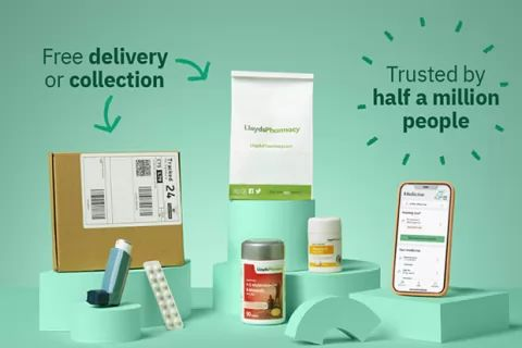 NHS prescriptions delivered for free by LloydsDirect.