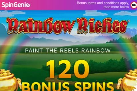 Get 120 Bonus Spins on Rainbow Riches, Reels of Gold - Exclusive Offer!